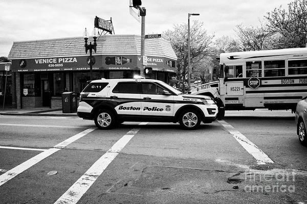 Wall Art - Photograph - police police ford interceptor suv patrol vehicle on call Boston USA by Joe Fox