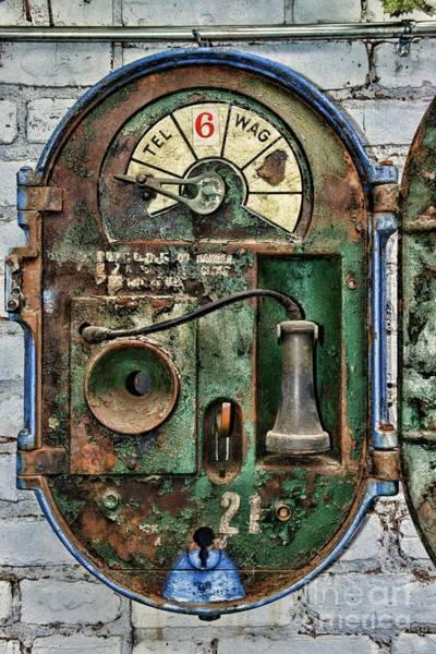 Wall Art - Photograph - Police-the Police Alarm Box-a Look Inside by Paul Ward