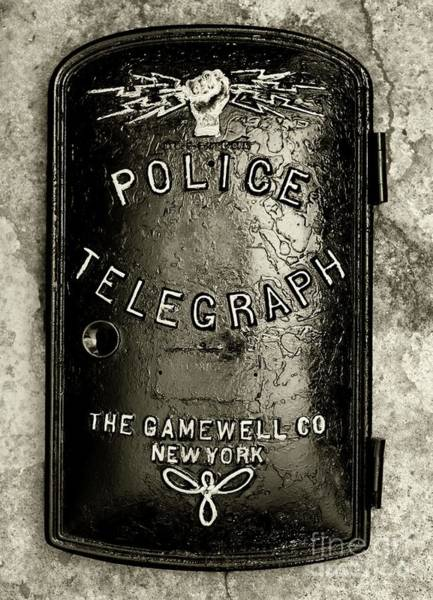 Wall Art - Photograph - Police-the Police Telegraph In Black And White by Paul Ward