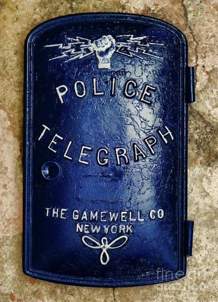 Wall Art - Photograph - Police-the Police Telegraph by Paul Ward