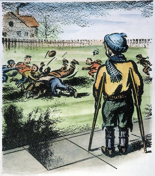 Photograph - Polio Cartoon, 1957 by Granger
