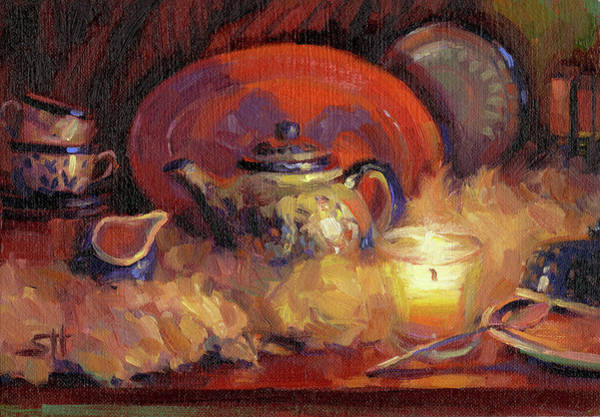 Still-life Painting - Polish Pottery  by Steve Henderson