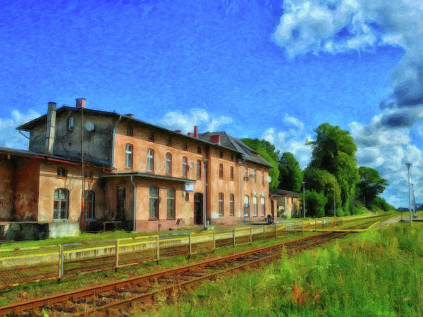 Painting - Polish Train Station - Pol343443 by Dean Wittle