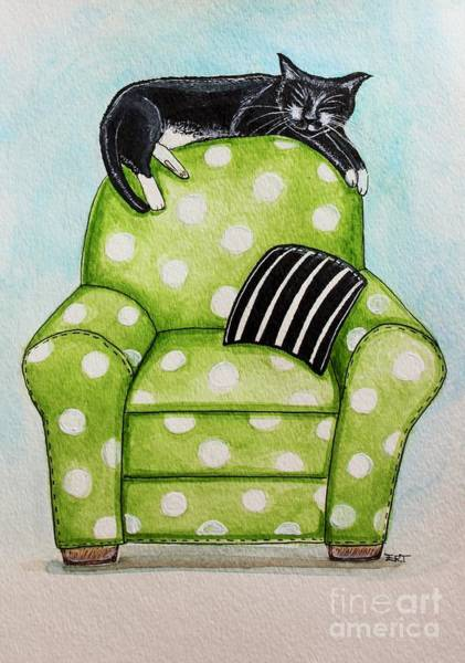 Painting - Polka Dot Snoozes by Elizabeth Robinette Tyndall
