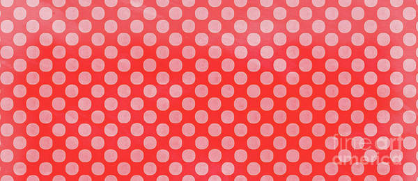 Wall Art - Painting - Polka Dots Red Mug by Edward Fielding