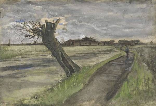 Painting - Pollard Willow The Hague July 1882 Vincent Van Gogh 1853  1890 by Artistic Panda