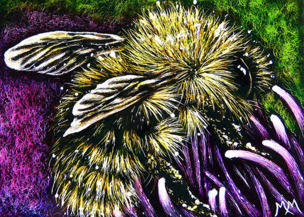 Painting - Pollination  -  Sa102 by Monique Morin Matson