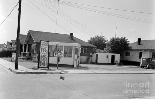Photograph - Polly Gas Station,  Circa 1935 by California Views Archives Mr Pat Hathaway Archives
