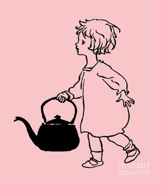 Iron Drawing - Polly Put The Kettle On by Arthur Rackham