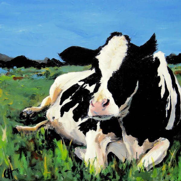 Wall Art - Painting - Polly The Cow by Cari Humphry
