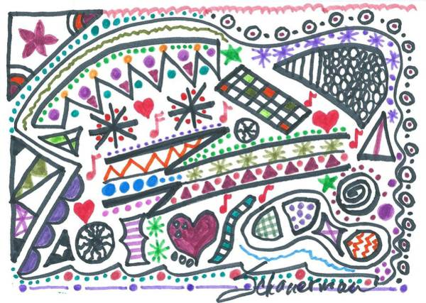 Drawing - Polly-wolly-doodle by Susan Schanerman