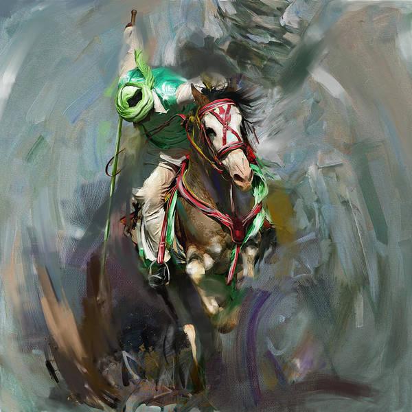 Polo Wall Art - Painting - Polo 184 1  by Mawra Tahreem