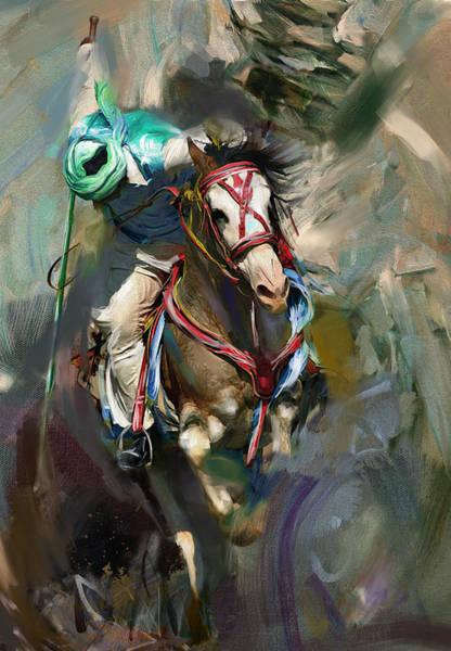 Polo Wall Art - Painting - Polo 184 3 by Mawra Tahreem