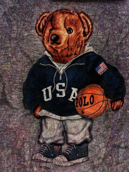 Hoodies Photograph - Polo Bear Sport by Eddie G