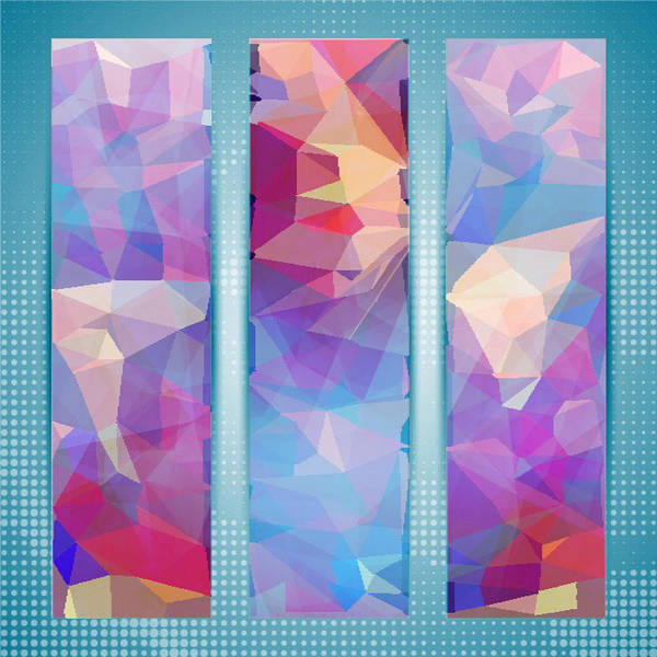 Polygon Abstract In 3 Frames Art Print