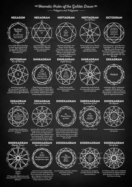 Satanism Digital Art - Polygons And Polygrams by Zapista Zapista