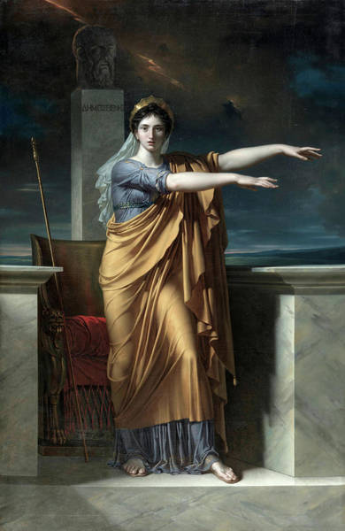Poetry Painting - Polyhymnia, Muse Of Eloquence by Charles Meynier