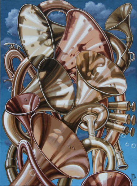 Painting - Polyphony Of Louis Armstrong by Victor Molev