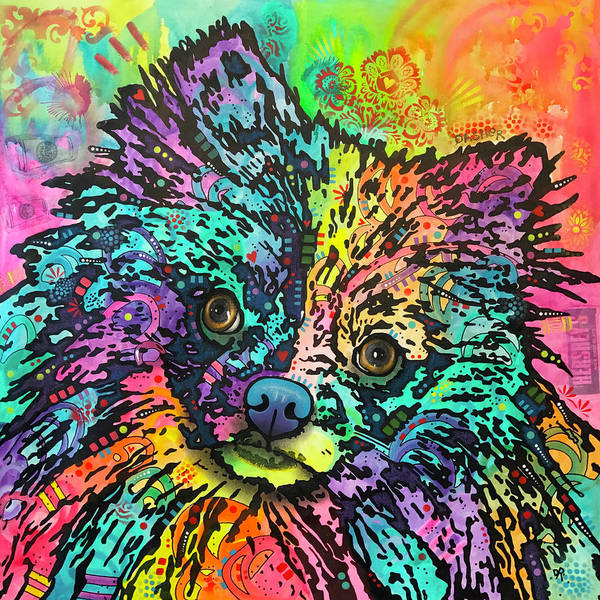 Wall Art - Painting - Pom Pom by Dean Russo Art