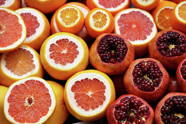 Wall Art - Photograph - Pomegranate And Citrus by Happy Home Artistry