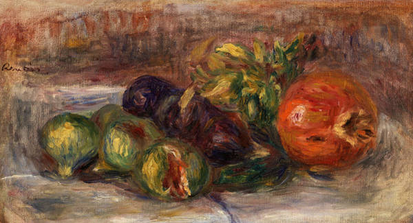 Apple Peel Painting - Pomegranate And Figs by Pierre-Auguste Renoir