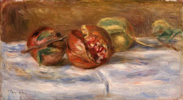 Grenade Wall Art - Painting - Pomegranates, Grenades by Pierre-Auguste Renoir