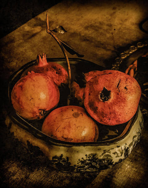 Photograph - Corfu, Greece - Pomegranates by Mark Forte
