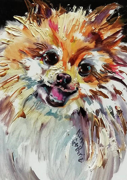 Wall Art - Painting - Pomeranian Dog Painting Commission by Kim Guthrie