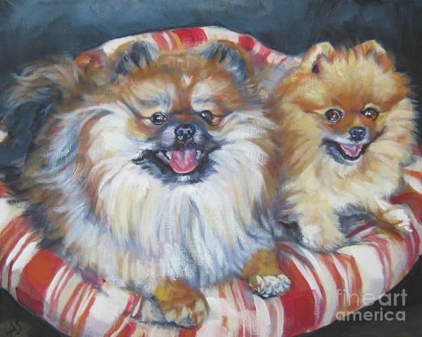 Pomeranian Painting - Pomeranian Friends by Lee Ann Shepard
