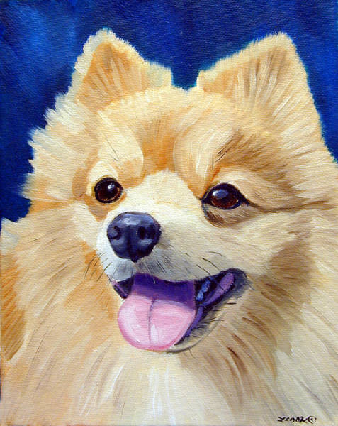 Wall Art - Painting - Pomeranian by Lyn Cook