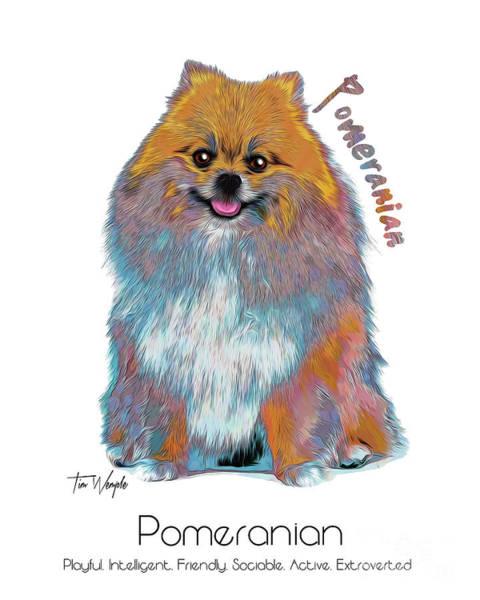 Digital Art - Pomeranian Pop Art by Tim Wemple
