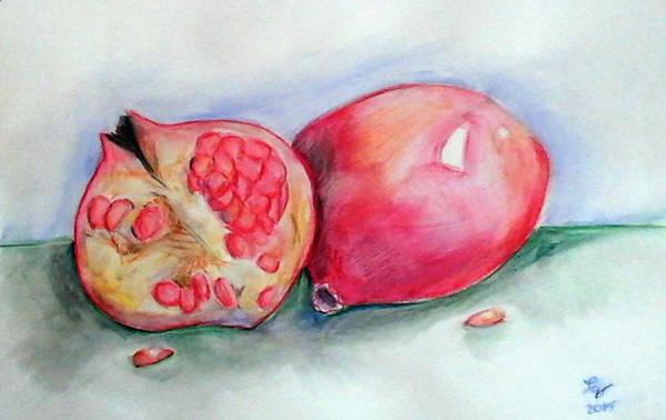 Painting - Pomegranates by Loretta Nash