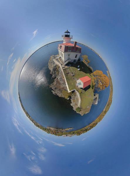 Wall Art - Photograph - Pomham Rocks Lighthouse Little Planet by Christopher Blake
