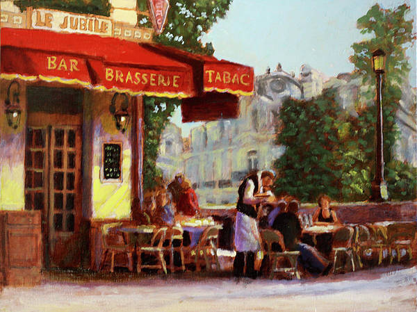 Dining Al Fresco Painting - Pomme Frites by David Zimmerman
