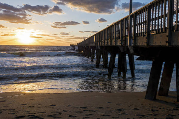 Photograph - Pompano Beach Fishing Pier At Sunrise Florida Sunrise by Toby McGuire