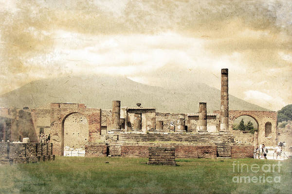 Buried Wall Art - Photograph - Pompeii Forum by Delphimages Photo Creations