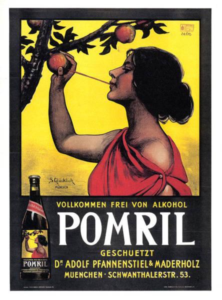 Fresh Mixed Media - Pomril - Apple Juice - Vintage Drink Advertising Poster by Studio Grafiikka