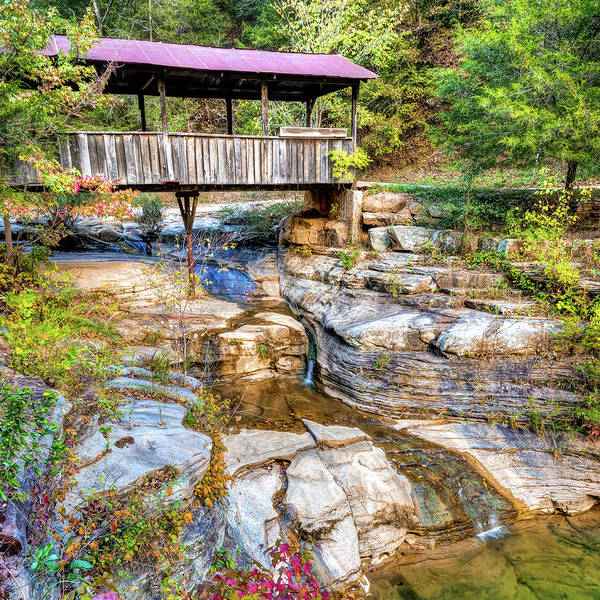 Photograph - Ponca Covered Bridge Art - Arkansas Photography 1x1 by Gregory Ballos