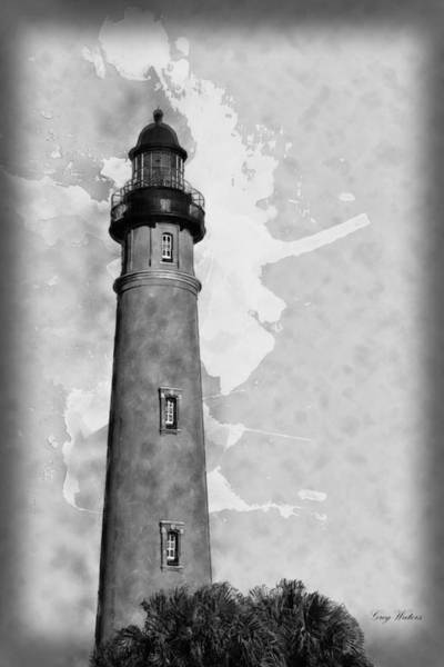 Wall Art - Photograph - Ponce Inlet Lighthouse Bw by Greg Waters