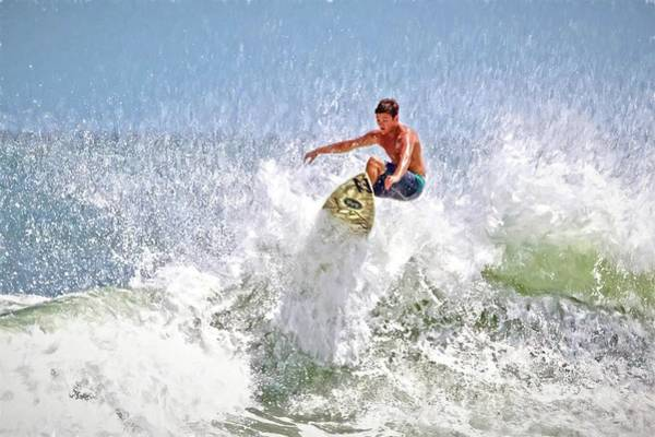 Photograph - Ponce Inlet Surfer Five by Alice Gipson