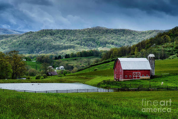 Photograph - Pond And Barn by Thomas R Fletcher