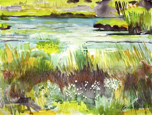 Pond And Plants Art Print