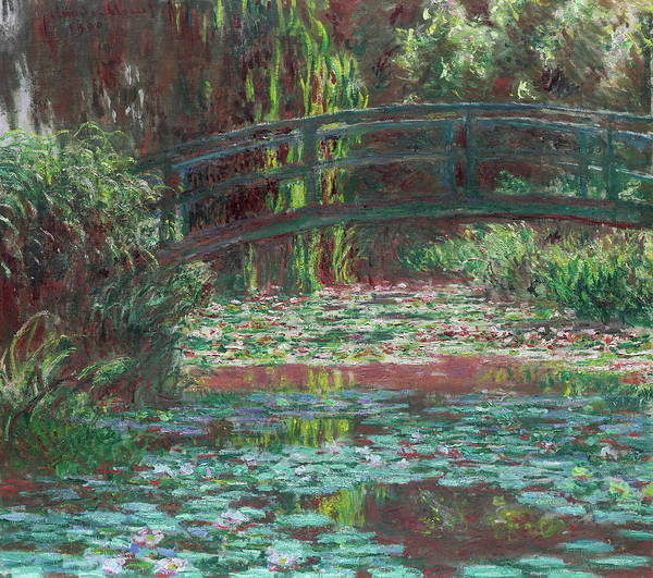 Wall Art - Painting - The Bridge Over The Waterlily Pond 1900 by Claude Monet