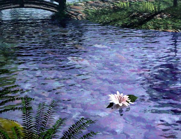 Painterly Digital Art - Pond by Cynthia Decker