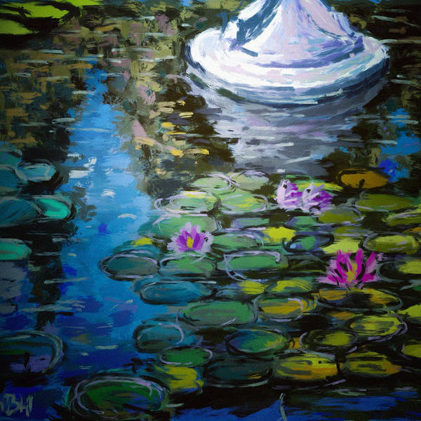 Russian Impressionism Wall Art - Painting - Pond In Monet Garden by Vit Nasonov