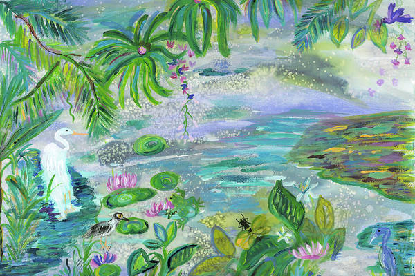 Wall Art - Painting - Pond In The Morning by Bridget Weber