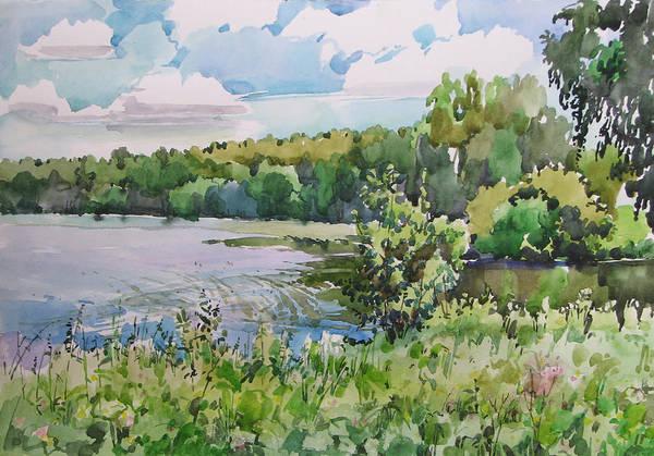 Wall Art - Painting - Pond by Juliya Zhukova