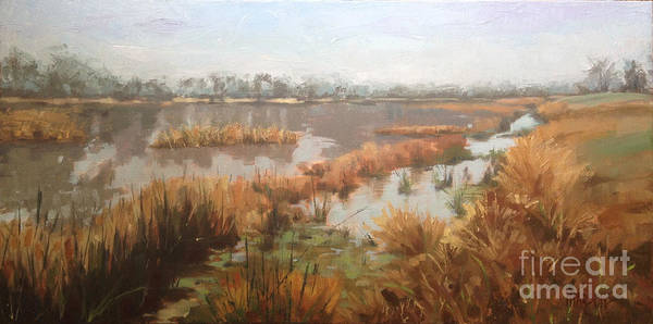 Painting - Pondering On A Pond by Nancy  Parsons