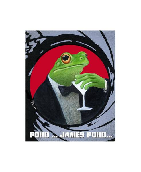 Painting - Pond...james Pond... by Will Bullas