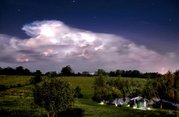 Photograph - Pondsky At Night by Sam Davis Johnson